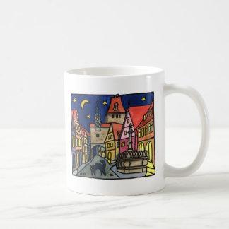 """Cat Night"" in Rothenburg Coffee Mug"