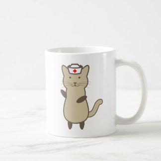 Cat Nurse - cartoon funny cat Coffee Mug