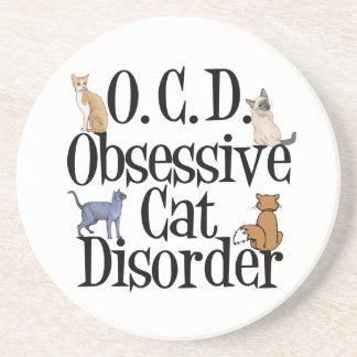 Cat Obsessed Beverage Coasters