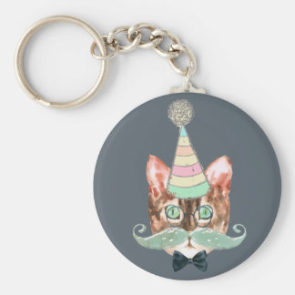 Cat obsession keychain