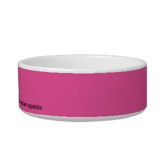 Cat of Frankstein Personalized Cat Bowl - Pink
