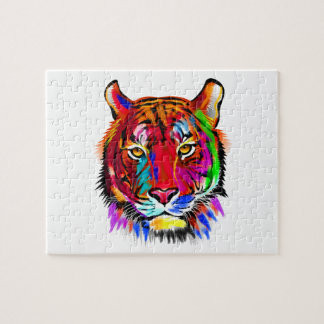 Cat of many colors jigsaw puzzle