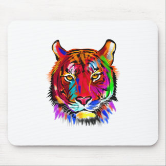 Cat of many colors mouse pad