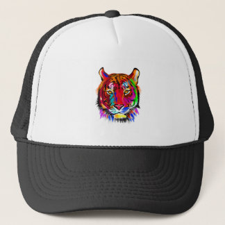 Cat of many colors trucker hat