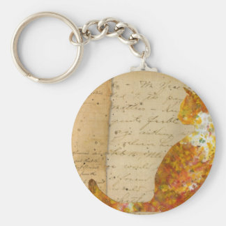 Cat of Many Words Basic Round Button Keychain