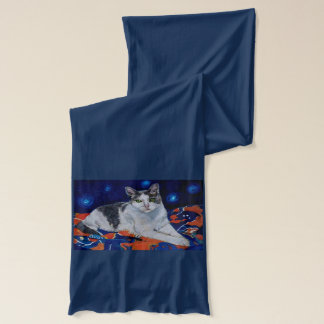 Cat on a Blanket Scarf