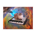 Cat on a Keyboard in Space Canvas Print