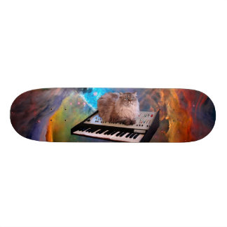 Cat on a Keyboard in Space Skate Board Decks