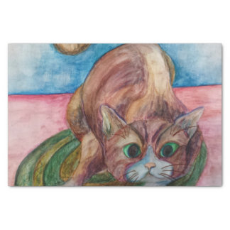 cat on a mat tissue paper