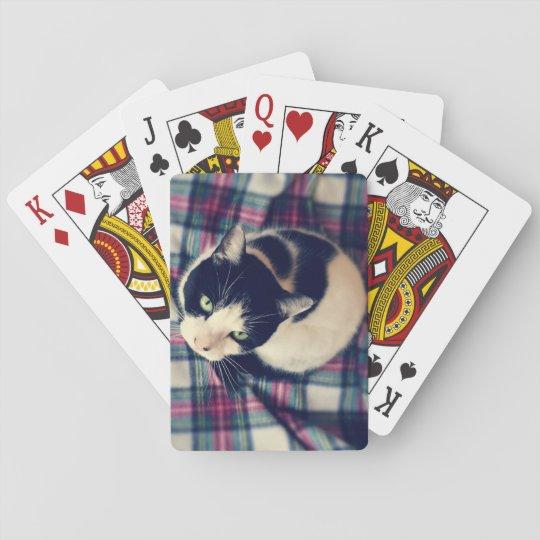 Cat on A Tartan Mat Playing Cards