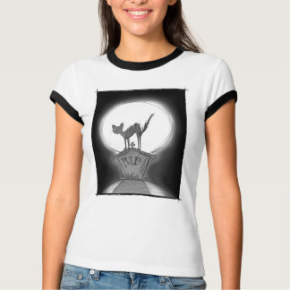 Cat On a Tombstone T-Shirt