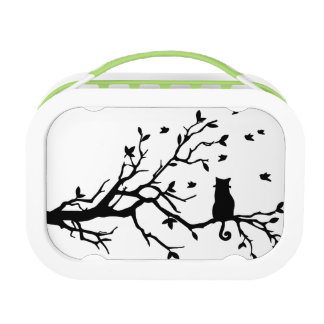 Cat on a tree - Silhouette Lunch Box