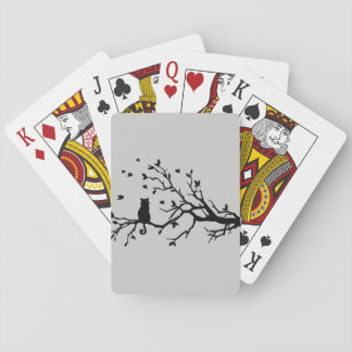 Cat on a tree - Silhouette Playing Cards