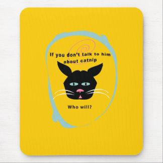 cat on catnip-talk funny customize colors mouse pad