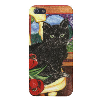 Cat on Chair iPhone 5/5S Covers