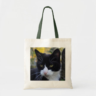 Cat on Duty Budget Tote Bag