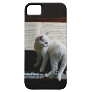 Cat on piano iPhone 5 case