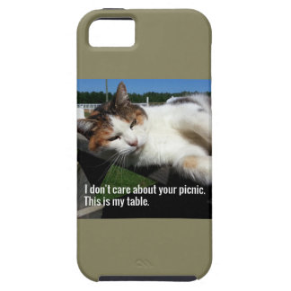 Cat On Picnic Table Case For The iPhone 5