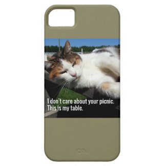 Cat On Picnic Table iPhone 5 Covers