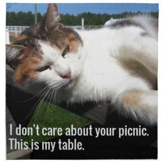 Cat On Picnic Table Napkin