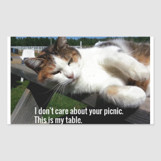 Cat On Picnic Table Sticker
