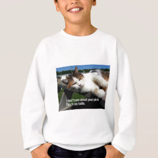 Cat On Picnic Table Sweatshirt