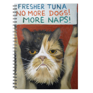 Cat On Strike Notebook