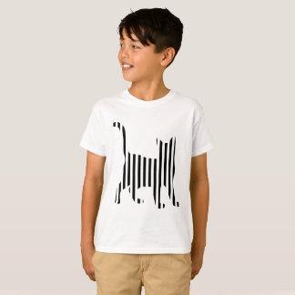 Cat on Stripes T-Shirt