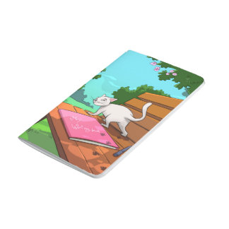 Cat on the Bench Notebook for Cat Lovers