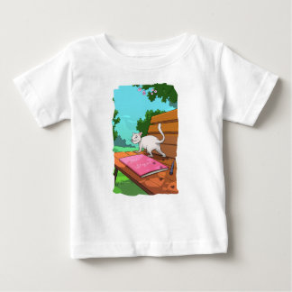 Cat on the Bench T-shirt for children