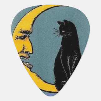 cat on the moon guitar pick