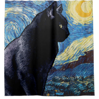 Cat on the Window Sill:  Starry Night