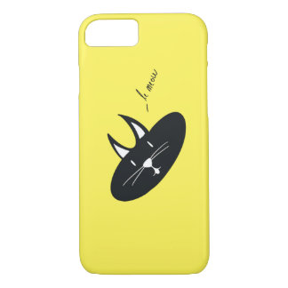 Cat on Yellow(Color is Customizable) iPhone 7 Case
