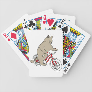 Cat On Youth Bike Poker Deck