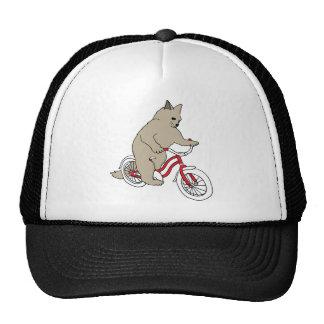 Cat On Youth Bike Trucker Hat