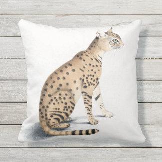 Cat Ornata Outdoor Throw Pillow