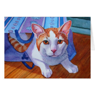 Cat out of the Bag Card