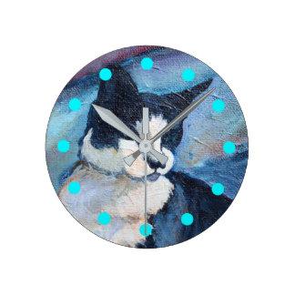 Cat Painting Clock