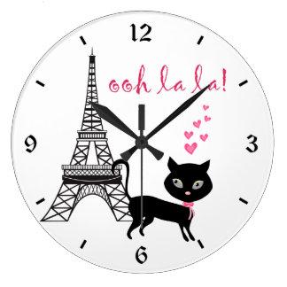Cat Paris Clock