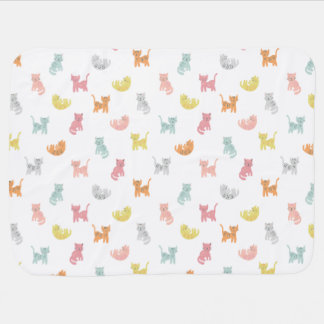 Cat Party Swaddle Blanket