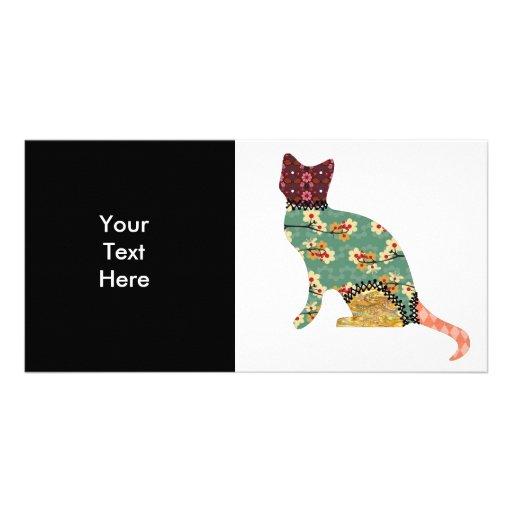 Cat Patchwork Pet Photo Card