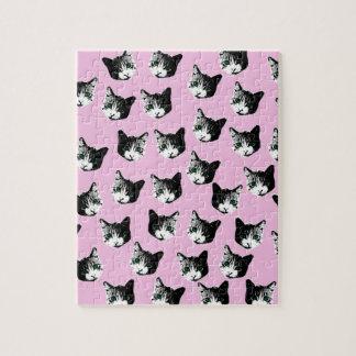 Cat pattern jigsaw puzzle