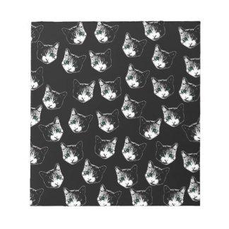 Cat pattern notepad