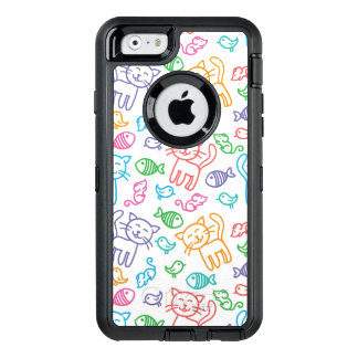 cat pattern OtterBox iPhone 6/6s case