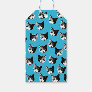 Cat pattern pack of gift tags