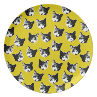 Cat pattern party plates