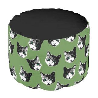 Cat pattern pouf