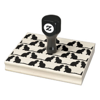 Cat Pattern Rubber Stamp