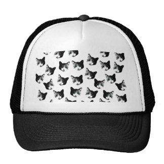Cat pattern trucker hat