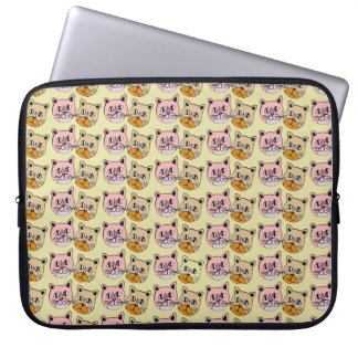 cat patterns laptop sleeve